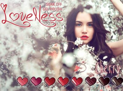 LoveNess Gel Polish Poster Cherry