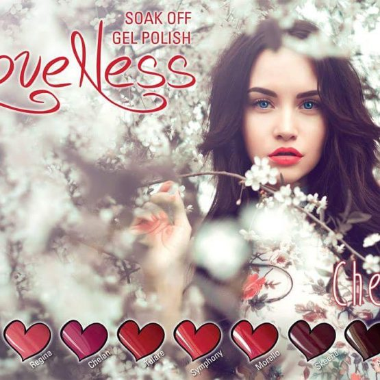 LoveNess Gel Polish Poster Cherry