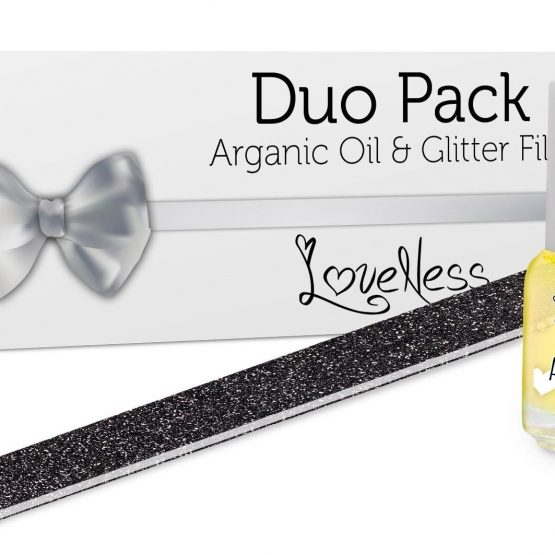 LoveNess Duo Pack Arganic Oil & Glitter File