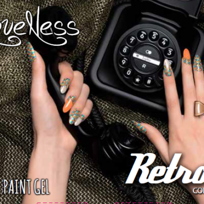 LoveNess Paint Gel Retro Collection Poster