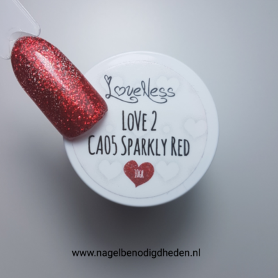 LoveNess Color Acryl 05 Sparkly Red 10 gr. site