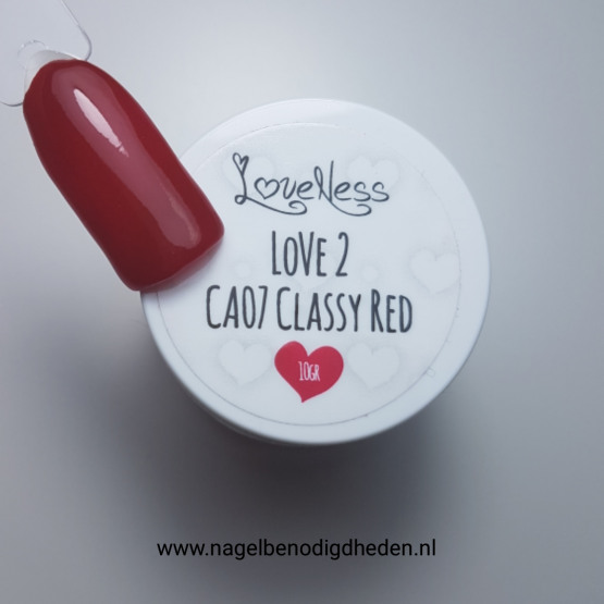LoveNess Color Acryl 07 Classy Red 10 gr. site