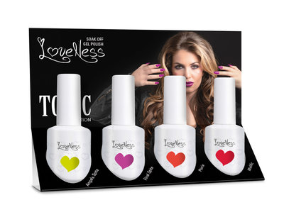 LoveNess Gelpolish Toxic Collection 4 pcs