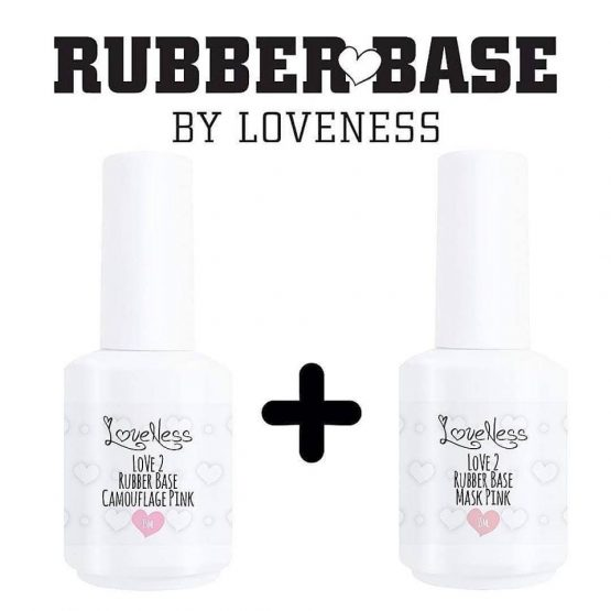 LoveNess Rubberbase Camouflage Pink & LoveNess Rubberbase Mask Pink