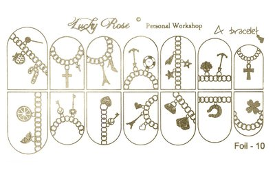 LoveNess Waterdecal Foil Gold 10