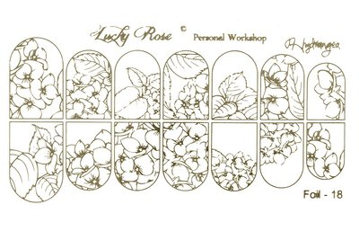 LoveNess Waterdecal Foil Gold 18