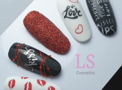 YOURS Face Facts, LoveNess Ink Black, Perfect White, Spider Gel Red, Sugar 15