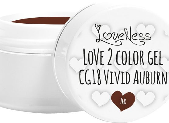 LoveNess Color Gel CG18 Vivid Auburn 5ml.