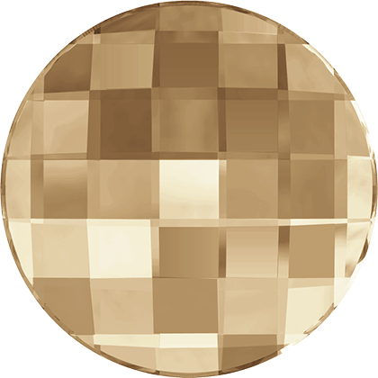Swarovski Flat Backs Crystal Golden Shadow 6mm. 6 stuks