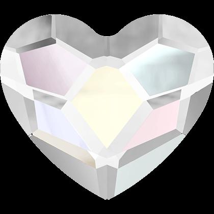 Swarovski Flat Backs Heart Crystal 6mm 6st.