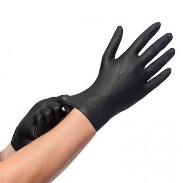 Eurogloves handschoenen soft-nitril poedervrij zwart 150 st