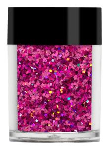 Lecenté Squares Glitter Bright Pink 8 gr.