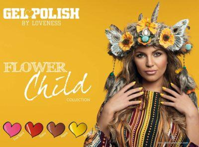 LoveNess Gelpolish Flower Child Collection 4st....