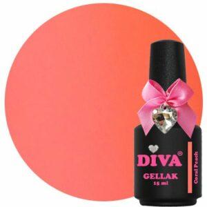 Diva Gellak Coral Peach 15 ml