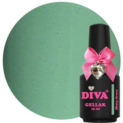 Diva Gellak Pastel Minty Green 15 ml .