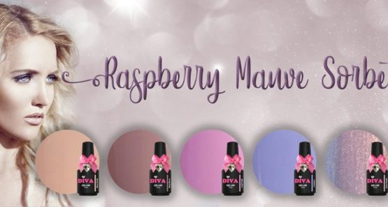 Diva Gellak Rasberry Mauve Sorbet Collection 6 x 15 ml