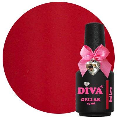Diva Gellak Red Love 15 ml .