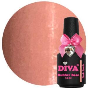 Diva Rubberbase Gellak Dark Peach 15 ml