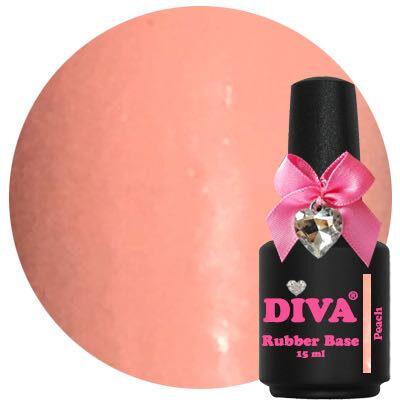 Diva Rubberbase Gellak Peach 15 ml