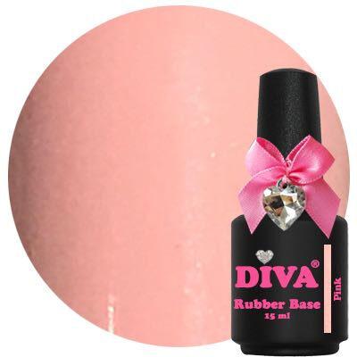 Diva Rubberbase Gellak Pink 15 ml
