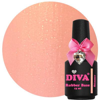 Diva Rubberbase Gellak Shimmer 15 ml