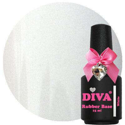 Diva Rubberbase Gellak White 15 ml