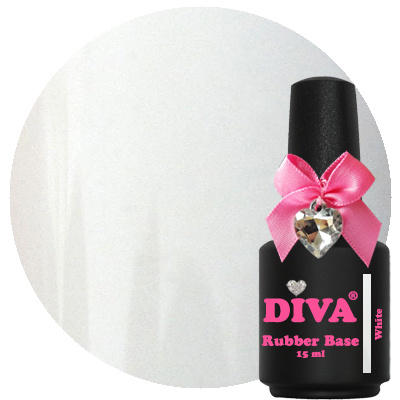 Diva Rubberbase Gellak White 15 ml