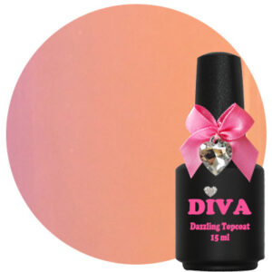 Diva Dazzling Topcoat Nude No-Wipe 15 ml