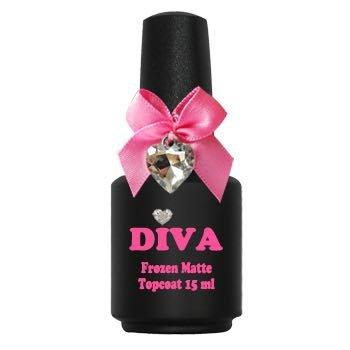 Diva Frozen Super Matte Topcoat No-Wipe 15 ml