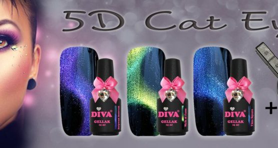 Diva Gellak 5D Cat Eye Collection 3 x 15 ml