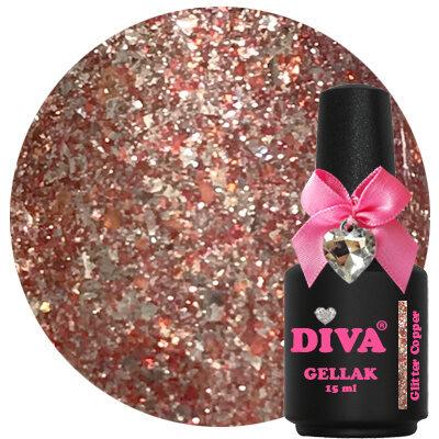 Diva Gellak Glitter Copper 15 ml