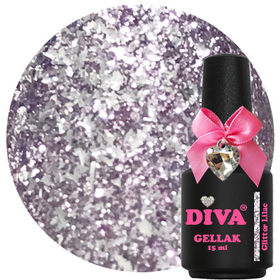 Diva Gellak Glitter Lilac 15 ml