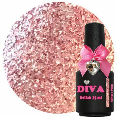 Diva Gellak Glitter Pink 15 ml