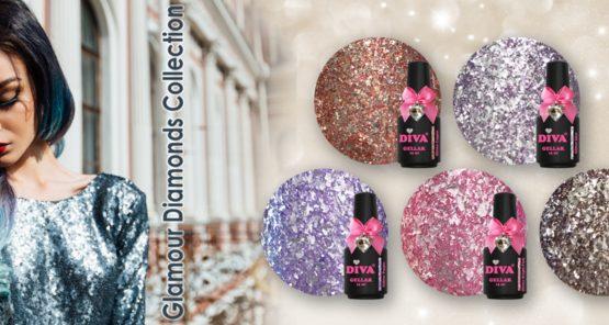 Diva Glamour Diamonds Collection 2. 5 x 15 ml
