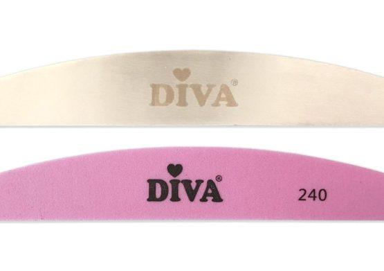 Diva Halfmoon Pink Buffer 240 gritt 10st. incl handle