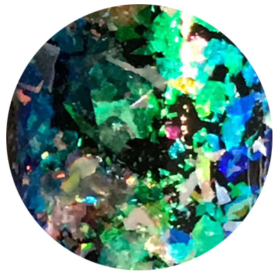 Hologram Flakes 'Jewels from Heaven' Blue Green
