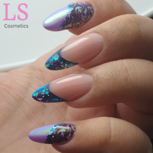 LoveNess Glitters Chameleon 04, Magic Unicorn Purple, Gelpolish Doofie, Paint Gel 18 Aurelia, RevoGel Cover Pink & Crystal Clear, YOURS Off The Cuff, Purple Affection 4