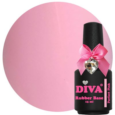 Diva Rubberbase Gellak Perfect Pink 15 ml