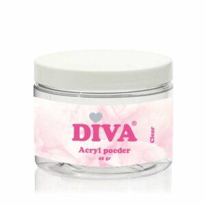 Diva Acryl Poeder Clear 45 gr
